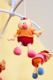 Mobile toy. Mobile with colored soft toys Stock Image