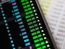 Mobile trade Stock Photo