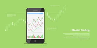 Mobile trading banner Royalty Free Stock Photography