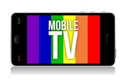Mobile tv illustration design Stock Photo