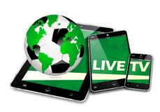 MOBILE TV SOCCER Royalty Free Stock Image
