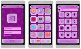 Mobile UI design, easy editable, bright, gentle stock illustration
