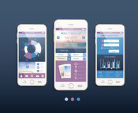 Mobile ui kit.Vector design with  mobile phones Stock Photos