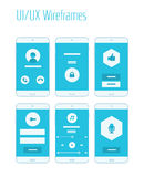 Mobile UI and UX Wireframes Kit. Mobile website and application responsive sitemap templates Royalty Free Stock Image
