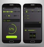 Mobile UI Vector Template Kit Stock Photos