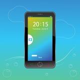 Mobile- und Verschlussschirm stockbilder