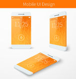 Mobile user application interface concept Royalty Free Stock Images
