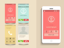Mobile user interface with calling layout. Royalty Free Stock Photography