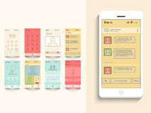 Mobile user interface with different application. Stock Images