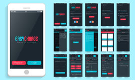 Mobile User Interface for Online Payment options. Royalty Free Stock Photography
