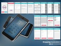 Mobile User Interface for Online Shopping concept. vector illustration