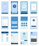 Mobile User Interface 35 Screens Wirefrme Kit for Stock Images