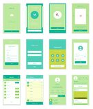 Mobile User Interface 35 Screens Wirefrme Kit for Royalty Free Stock Photography