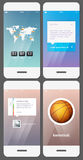 Mobile user interface template vector illustration