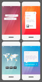 Mobile user interface template Stock Photos