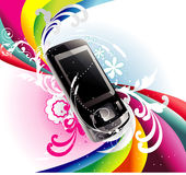 Mobile vector illustration Royalty Free Stock Images