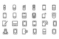 Mobile Vector Line Icons 1 vector illustration