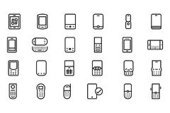Mobile Vector Line Icons 2 Royalty Free Stock Photos
