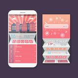 Mobile vector user ui kit form interface. For web page, site bar, art flat icon, device design theme, modern menu app Royalty Free Stock Photos