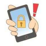 Mobile verrouillé Photos libres de droits