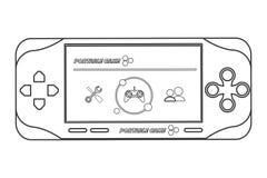 Mobile video game icon line design. Flat design mobile video game icon  illustration line design Stock Photos