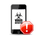 Mobile virus. Concept, vector illustration Stock Photo