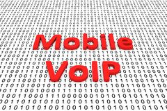 Mobile voip. In the form of binary code, 3D illustration Stock Photo