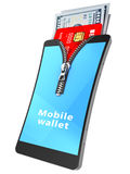 Mobile wallet Stock Image