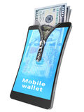 Mobile wallet Stock Photos