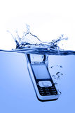 Mobile in water Stock Photo