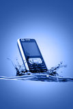 Mobile in water Stock Photography