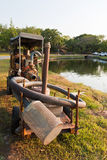 Mobile water pump Stock Photo