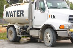 Mobile Water Tank and Truck Stock Image