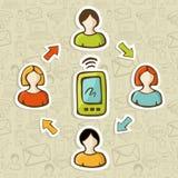 Mobile web marketing concept Stock Photo