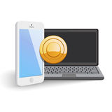 Mobile Web Payment Stock Photo