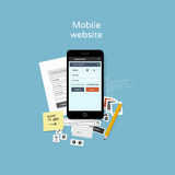Mobile website development illustration Stock Photography