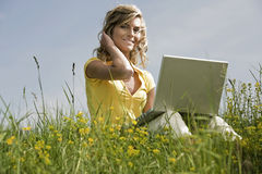 Mobile Working Royalty Free Stock Image