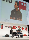 MOBILE WORLD CONGRESS 2015 - MARK ZUCKERBERG KEYNOTE Stock Photo