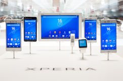 MOBILE WORLD CONGRESS 2015 - NEW XPERIA DEVICES Stock Photo