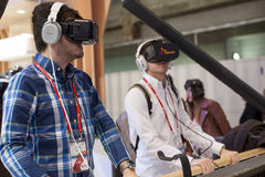 MOBILE WORLD CONGRESS 2015 - OCULUS RIFT Royalty Free Stock Photos