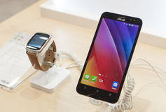 MOBILE WORLD CONGRESS 2015 - ASUS FONEPAD Stock Photo