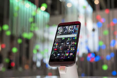 MOBILE WORLD CONGRESS 2015 - HTC ONE M9 Royalty Free Stock Photos