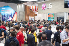 MOBILE WORLD CONGRESS 2015 - LG STAND Royalty Free Stock Images