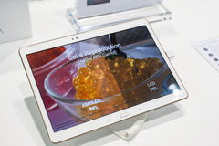 MOBILE WORLD CONGRESS 2015 - SAMSUNG GALAXY TAB Royalty Free Stock Photo