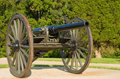 Mobile WWI cannon. A view of an old World War One mobile cannon Royalty Free Stock Photos