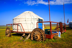 Mobile Yurt. At Inner Mongolia in the grassland Royalty Free Stock Photos