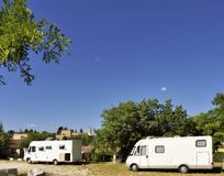 Mobilehomes at the camping Royalty Free Stock Image