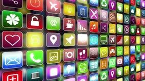 Mobilen App ställer ut stock illustrationer