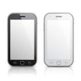 mobilen för designelementillustration phones vektorn Arkivbilder