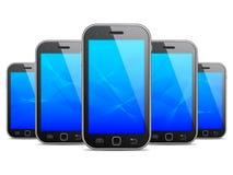 mobilen för designelementillustration phones vektorn Royaltyfri Bild